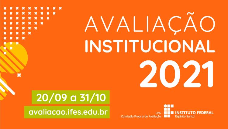 Participe da Avaliação institucional 2021