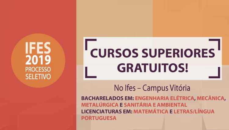 Campus Vitória oferta 216 vagas em cursos de graduação pelo Sisu